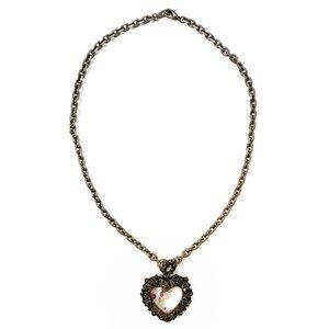 Anna Sui Vintage Heart Necklace